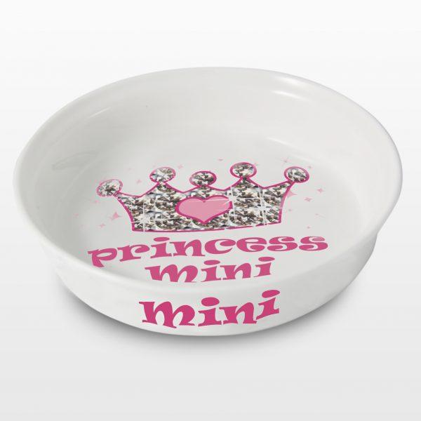 Princess Personalised Pet Bowl