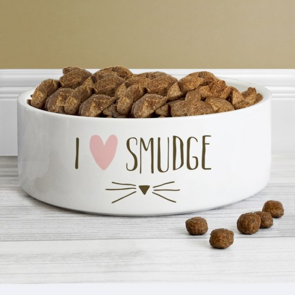 Personalised Cat Features Bowl