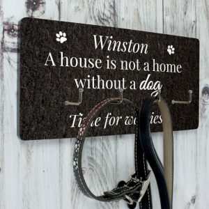 Personalised Dog Lead Wall Hook