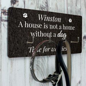 Personalised Dog Lead Wall Hook