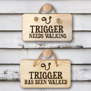 Personalised Dog Needs Walking Sign