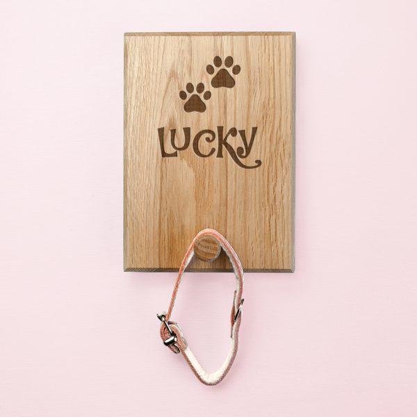 Personalised Paw Print Dog Lead Hook