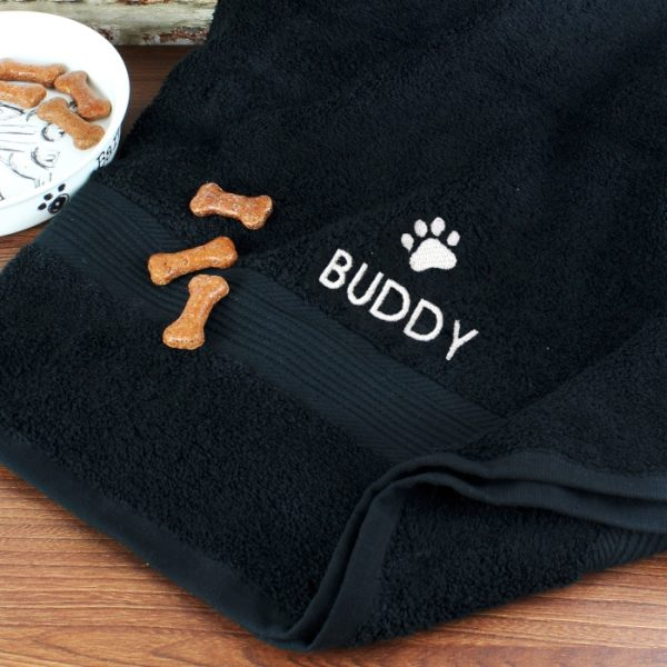 Personalised Pet Towel - Paw Motif