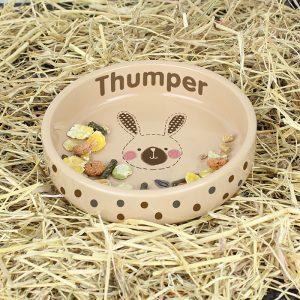 Personalised Rabbit Food Bowl