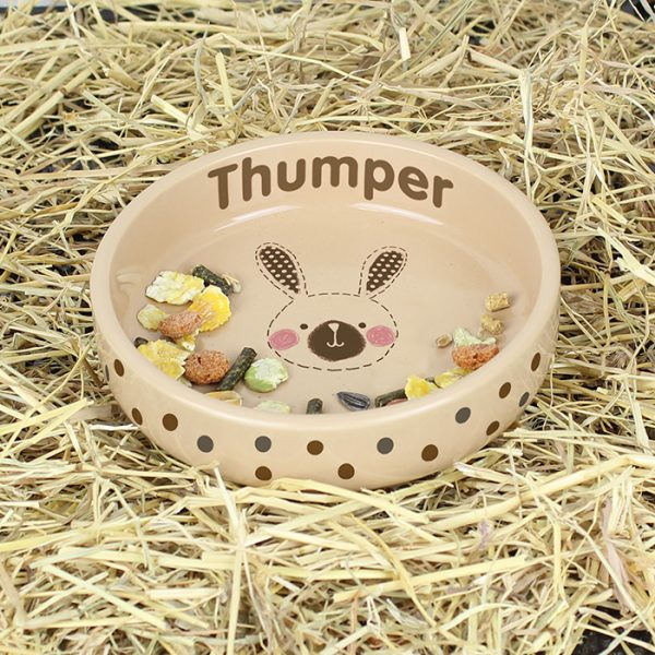 Personalised Rabbit Food Bowl