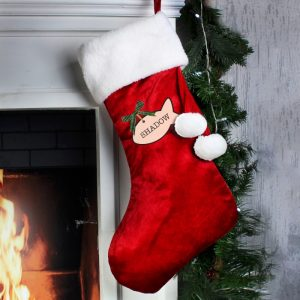 Personalised Christmas Stocking for Cats