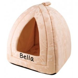 personalised cat bed - cream