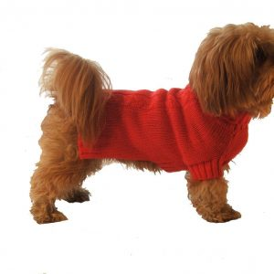 Rouge Cable Snug Dog Pullover