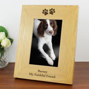Personalised Paw Print Photo Frame