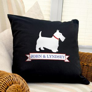 Scottie Dog Personalised Cushion