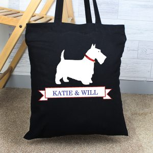 Personalised Scottie Dog Tote Bag
