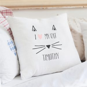 Cat Feature Personalised Cushion Cover