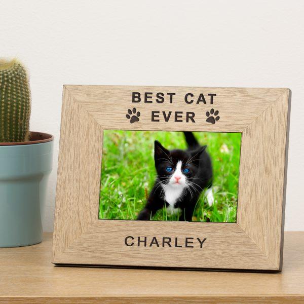 Personalised Cat Photo Frame