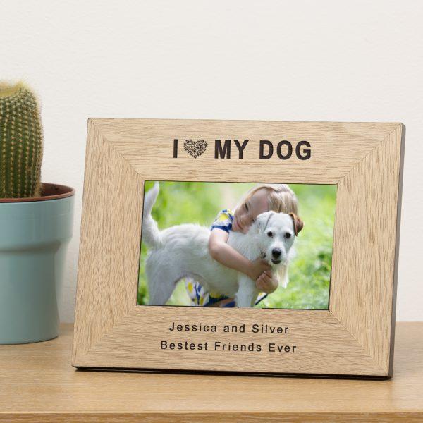 I Heart My Dog Photo Frame