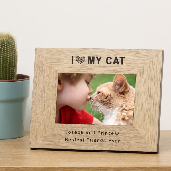 I Heart My Cat Photo Frame
