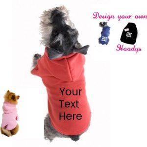 personalised dog hoodie