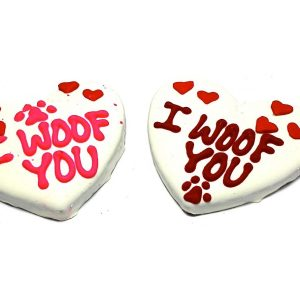 I Woof You Large Heart Dog Treats