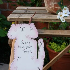 personalised large wooden dog sign