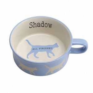 personalised cat bowl