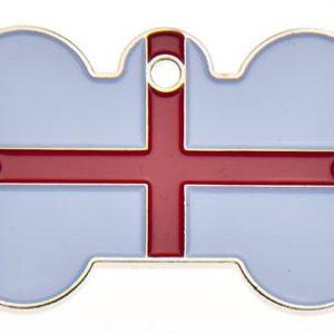England Flag Dog ID Tag