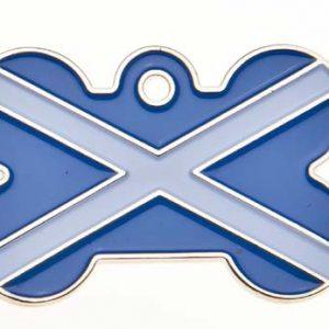 Scotland Flag Dog ID Tag
