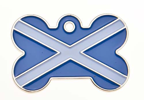 Scotland Flag Dog ID Tag