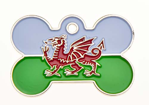 Wales Flag Dog ID Tag
