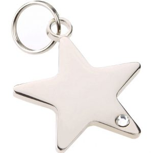 rhinestone star dog i.d. tag