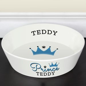 Personalised Prince Large Dog Bowl (20cm)