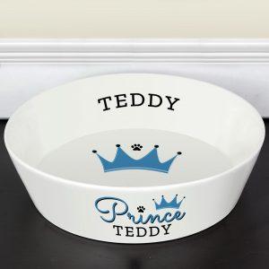 Personalised Prince Large Dog Bowl (20cm)