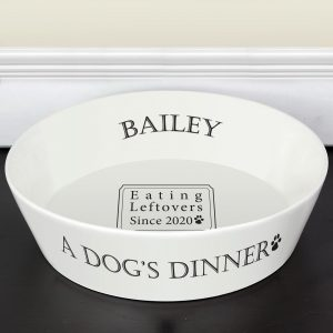 A Dog's Dinner Personalised Bowl