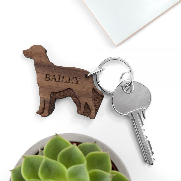 Personalised Dog Breed Keyring