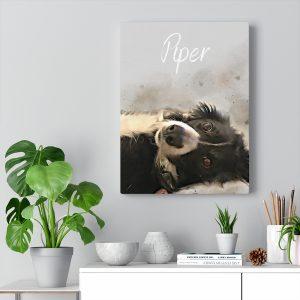 Pet Portrait on Canvas Print