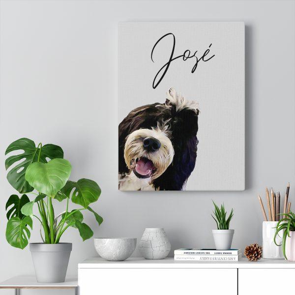Personalised Pet Portrait Canvas Print
