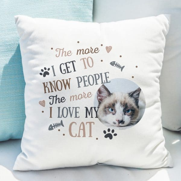 I Love My Cat Photo Upload Cushion