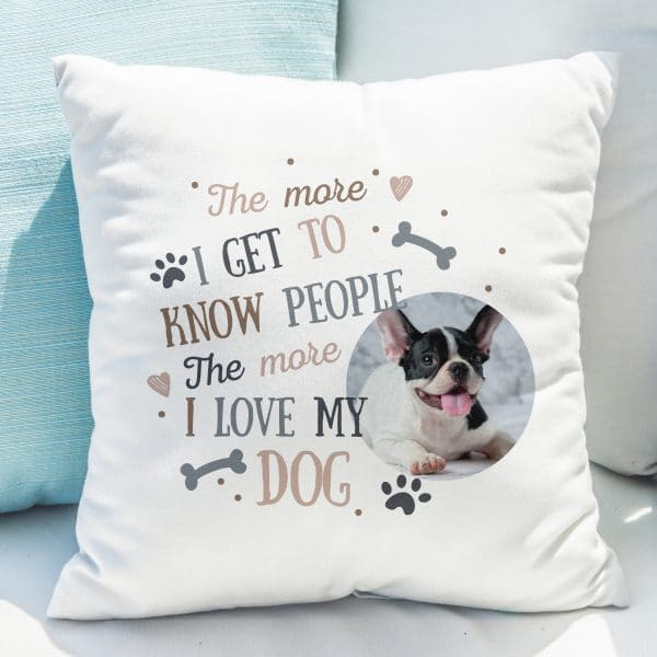 I Love My Dog Photo Upload Cushion
