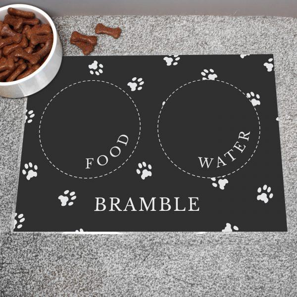 Personalised Black Pet Placemat