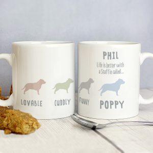 Personalised Staffordshire Bull Terrier Dog Breed Mug