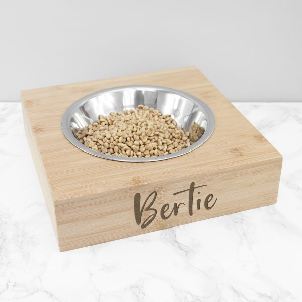 Personalised Single Bamboo Pet Bowl
